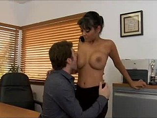 Boobs, Facial, Jizz, Big tits, Cumshot, Office, Bitch